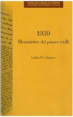 1939. Memòries del primer exili