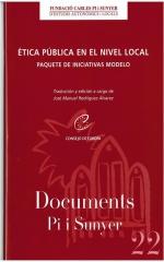 22. Ética pública en el nivel local. Paquete de iniciativas modelo