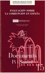 15. Evaluación sobre la corrupción en España