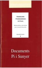 5. Federalismo y subsidiariedad en Italia