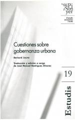 19. Cuestiones sobre gobernanza urbana