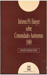 Informe Pi i Sunyer sobre Comunidades Autónomas 1989