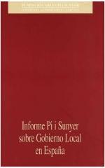 Informe Pi i Sunyer sobre Gobierno Local en España