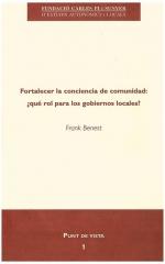 1. Fortalecer la conciencia de comunidad: ¿qué rol para los municipios?