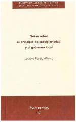 2. Notas sobre el principio de subsidiariedad y el gobierno local