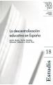 18. La descentralización educativa en España