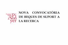 Convocatoria específica para otorgar becas de colaboración en la investigación para el equipo de investigadores de la Fundació Carles Pi i Sunyer